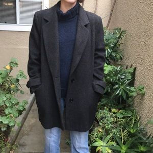 Vintage dark grey pea coat
